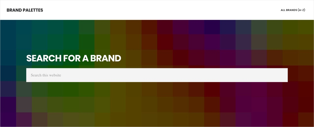 Brand Palettes tool to find out exact colors for brands